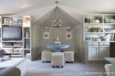 Office/Craft/Family Room Reveal {Finally!}… Grab the napkin... get ready to drool. (sigh)
