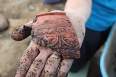 A beautiful piece of Roman Samian ware pottery found at Vindolanda The Old Curiosity Shop, Roman Britain, Antiques Roadshow, Roman Empire, Terra, Ancient History, Archaeology, 3, Minerals