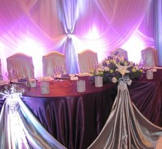 Backdrop/Head Tables - Sultana's Wedding Decor, wedding decor, head table decor, draping.