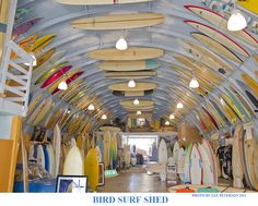 Surfing holidays is a surfing vlog with instructional surf videos, fails and big waves Surfboard Storage, Surf House, Hawaii Surf, California Surf, Surf Shack, Shop Fronts, Big Waves, Sports Shops, Shop Plans