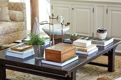 The Trick To Mixing Modern and Traditional Furniture - laurel home - fabulous coffee table styling by Mark D. Sikes