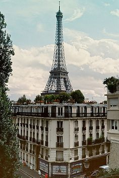 Paris, Tour Eiffel, view, buildings