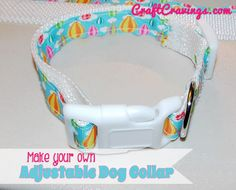 Make your own adjustable dog collar (tutorial)! adorable and takes only basic sewing skills! Craft Cravings
