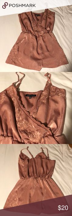 Kendall + Kiley silk rose romper lace trim rose details Kendall & Kylie Other