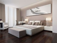 This is a Bedroom Interior Design Ideas. House is a private bedroom and is usually hidden from our guests. Luxury Bedroom Design, Bedroom Bed Design, Home Decor Bedroom, Home Interior Design, Bedroom Furniture, Bedroom Ideas, Bedroom Colors, Suites, Luxurious Bedrooms