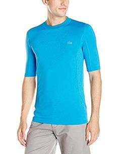 c07e6557e Lacoste Mens Sport Tennis Short Sleeve Performance Geometric Print  Compression T-Shirt    Details can be found by clicking on the image.