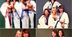More pictures from Abba's photo shoot which took place whilst they were in Holland during November 1976...