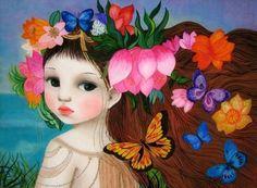Pintura de Monique Elianne y Girofla, Francia