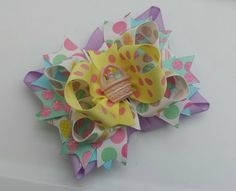 Cute easter bows  by: www.facebook.com/jasminebowtique