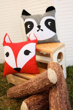 RESERVE LISTING for Lina: woodland animal pillow case by byUAKEA
