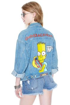 Vintage Hey Bart Denim Jacket