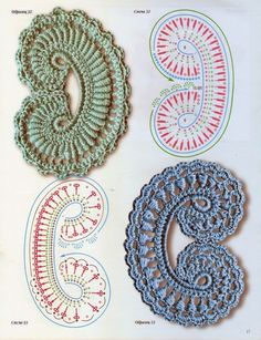 Crochet Irish Motif - Chart ❥