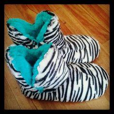 Zebra Print Slippers https://www.etsy.com/shop/MyselfJewellery