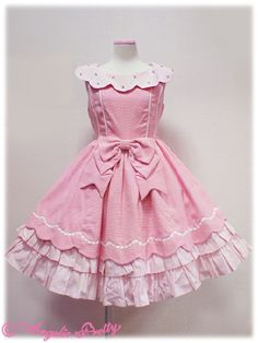 Sentimental Scallop JSK by Angelic Pretty Princess Outfits, Princess Clothes, Dress Up Dolls, Angelic Pretty, Frocks, Beautiful Outfits, Style Me, Fashion Dresses, Girls Dresses