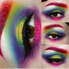 """Most stunning rainbow eyes by @makeupmouse using all #sugarpill and @illamasqua!"""