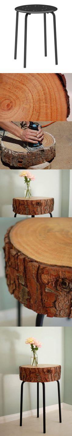 DIY tabouret bois                                                                                                                                                                                 Plus