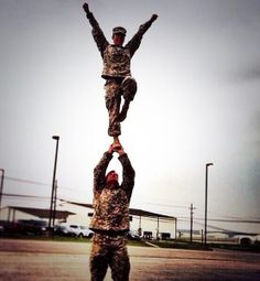 #respect #soldiercouple #cheerleaders