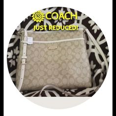 """‼️🎉HOST PICK🎉SIGNATURE FILE/CROSSBODY 🎉HOST PICK🎉😃(Light Khaki/Chalk) Signature Coach File bag, or can be used as a Cross-body bag. This is a very roomy cross-body!! Signature canvas. Inside zip pocket. Two other pockets inside bag. Adjustable long strap that can be used as a shoulder bag or as a cross-body. Outside pocket also. Straps are about 46"""", (adjustable straps) Makes a perfect gift🎁Comes with a Coach gift box.❤️ Coach Bags Crossbody Bags"""