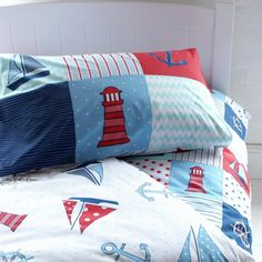Nautical Patchwork Duvet Set for Boys Bedding Kids Bedding Sets, Duvet Sets, Duvet Cover Sets, Cushions, Pillows, New Room, Our Kids, Room Inspiration, Kids Bedroom