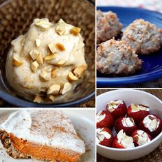 Vegan, Paleo, and More: The Healthiest Desserts to Satisfy Your Sweet Tooth Beste gesunde Nachspeise Healthy Cookies, Healthy Sweets, Healthy Dessert Recipes, Health Desserts, Delicious Desserts, Healthy Snacks, Snack Recipes, Yummy Food, Healthy Eating