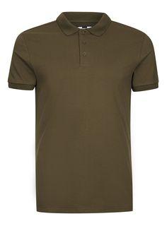 Khaki Muscle Fit Polo T-Shirt - T-shirts & Tanks - Clothing - TOPMAN USA