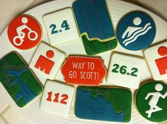 Triathlon cookies for the Ironman in Coeur D'Alene | Flickr - Photo Sharing!