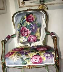 Recycled handpainted chair cover