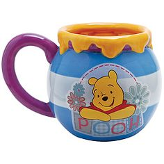 Pooh enjoys his hunny as much as you enjoy your morning brew!  Cute as a decorative accent!
