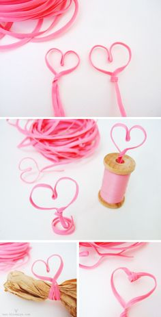 heart twisting with twist ties, gift wrapping for valentine day's