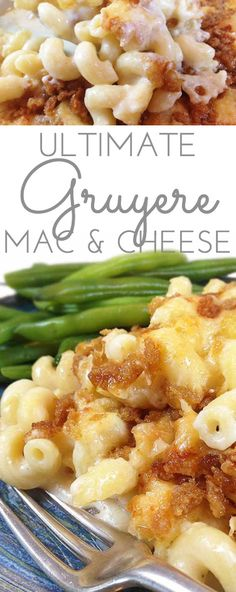Ultimate Three Cheese Gruyere Mac and Cheese - Through Her Looking Glass For all the cheesy mac & cheese lovers. If you love Gruyere, you'll love this ultimate homemade mac & cheese! Gourmet Mac N Cheese Recipe, Crockpot Mac And Cheese, Macaroni Cheese Recipes, Mac And Cheese Homemade, Pasta Recipes, Cooking Recipes, Three Cheese Mac And Cheese Recipe, Vegetarian Cooking, Vegetarian Recipes