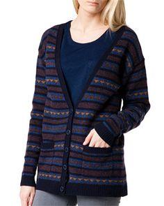 Sweater/Long cardi/trianle fairisle