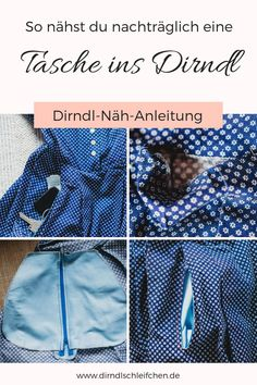 Sew skirt bag in dirndl - simple instructions in 8 steps In this step-by-step guide, you will learn how to subsequently sew a skirt pocket with a zipper int Sewing Clothes, Diy Clothes, 30 Minute Yoga, Skirt Pattern Free, Making A Model, Knitted Baby Clothes, Pajama Bottoms, Yoga Videos, Easy Knitting