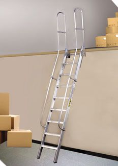 This Fixed Caged Ladder Has 42 Quot Walk Thru Handrails