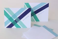 Make a simple greeting card using washi tape