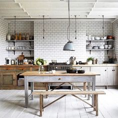 """""""I absolutely adore this #kitchen by #PaulMassey re posted from @bellemagazineau."""