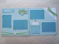 Nonna's Craft Corner: Project-Scrapbook Layouts