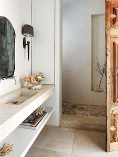 Casa Luis Puerta: baño en piedra