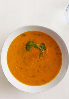 Roasted Sweet Potato and Garlic Soup Recipe