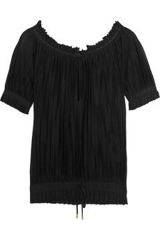 Gucci Pleated stretch-jersey top | NET-A-PORTER