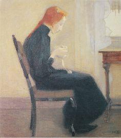 Helene Scherffbeck Helene Schjerfbeck, Modigliani, Painting People, Figure Painting, Modernist Movement, Expressionist Artists, Abstract Images, Portrait Illustration, Scandinavian Modern
