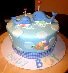 baby shower boy whales
