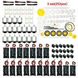 EUDAX 18 Set DC Motors KitMini Electric 1.5-3V 24000RPM Hobby Motor with 252Pcs Plastic Gears2 x AA Battery Holder Wires for STEM DIY Toy Plastic Gears, Gear 2, Circuit Diagram, Mounting Brackets, Diy Toys, Toys For Girls, Educational Toys, Motors, Electric