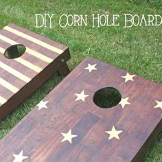 s don t tailgate til you see these awesome cornhole boards, outdoor living, woodworking projects, Add a Rustic Touch to Your Patriotism