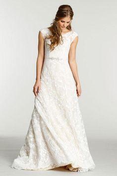 Ti Adora Cap Sleeve Lace Gown at shoptiques #affiliatelink