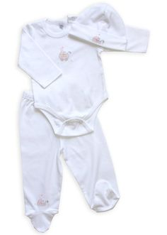 New Born Girls Bunny Footie and Onesie Layette 0-3m