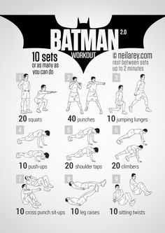 Batman Workout | neilarey.com | #fitness #bodyweight