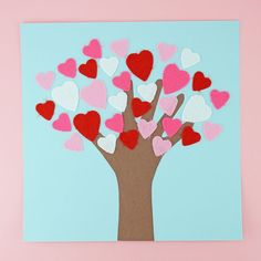 Kids will love celebrating Valentine's Day by making this adorable handprint heart tree craft. It makes a cute keepsake Valentine's Day Craft for Kids. Valentines Day Crafts For Preschoolers, Preschool Valentine Crafts, Kinder Valentines, Valentine's Day Crafts For Kids, Daycare Crafts, Valentines Day Activities, Valentines For Kids, Toddler Crafts, College Crafts