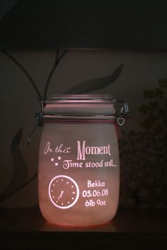 Personalised Glass Jar candle In these moments by Jarofheartsgifts