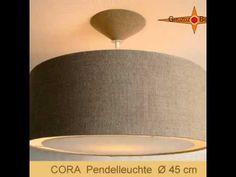 """Lampen Set """"Cora"""". Lampenset """"Cora"""" Schlichte Eleganz im Landhausstil - Loungeleuchte in trendigem Format mit Lichtrand-Diffusor. Sie ist aus grobem, naturbelassenem Bauernleinen und streut ein wunderschönes warmes Licht in jeden Raum. Die grobe Leinenstruktur wirkt für sich."""
