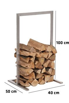 Firewood-Rack-SIDONE-Stainless-Steel-Log-Basket-Stand-Holder-Fire-Wood-Storage